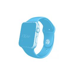 Apple Watch Sport 42 mm z aluminium w kolorze srebrnym z paskiem w kolorze niebieskim