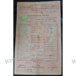 Zawiadomienie szkolne XLVIII Szkoła im. Ks. J. Poniatowskiego Kraków 1925