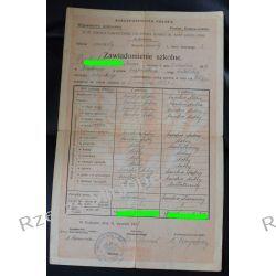 Zawiadomienie szkolne Szkoła żeńska XLVII im. A. Jagiellonki Kraków 1927r.
