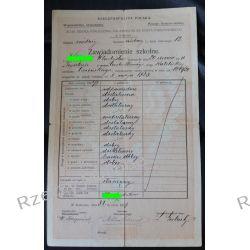 Zawiadomienie szkolne XLVIII Szkoła im. Ks. J. Poniatowskiego Kraków 1927