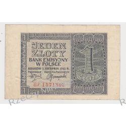 1 złoty 01.08.1941 - Mi 99b - Ser. D