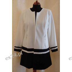 Przedłużany żakiet czarno – biały rozmiar 50