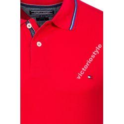 Tommy Hilfiger  Koszulka Polo Czerwona - M