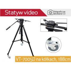 VT-7005D na kółkach profesjonalny statyw video