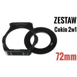 Zestaw COKIN P 2w1 holder adapter 72mm