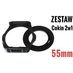 Zestaw COKIN P 2w1 holder adapter 55mm