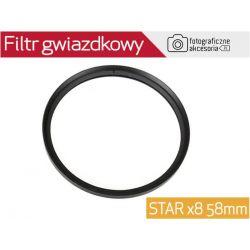 Filtr gwiazdkowy ośmioramienny STAR x8 58mm W-wa