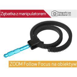 Zębatka z manipulatorem ZOOM Follow Focus obiektyw