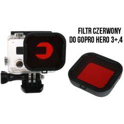 Filtr czerwony PODWODNY do GoPro Hero 3+ 4   W-wa