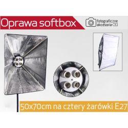 Oprawa softbox 50x70cm na cztery żarówki E27 Wwa