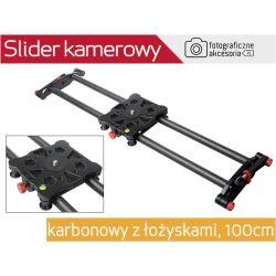 Slider karbonowy kamerowy VIDEO 100cm z łożyskami