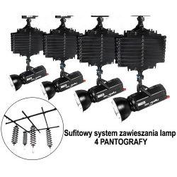 PANTOGRAFY - Sufitowy system zawieszania 4 lamp