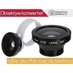 Obiektyw KONWERTER rybie oko(fish eye) do telefonu