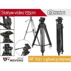WF-650 - Statyw video 155cm z głowicą olejową W-wa