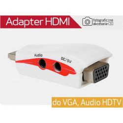 Adapter HDMI do VGA, Audio HDTV Wwa