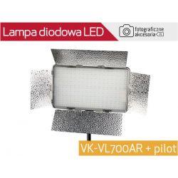 Lampa diodowa LED VK-VL700AR regulacja+ pilot W-wa