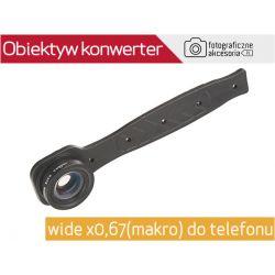 Obiektyw KONWERTER wide x0,67 (makro) do telefonu