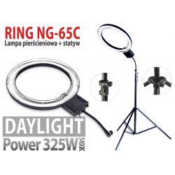 Lampa pierścieniowa NG-65C 325W + Solidny Statyw