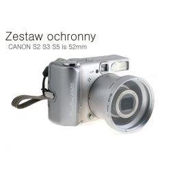 CANON S2 S3 S5 is 52mm Zestaw ochronny srebrny Wwa