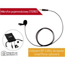 Mikrofon pojemnościowy STEREO BY-LM10 do kamer Wwa