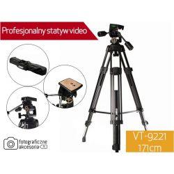 PROFESJONALNY STATYW VIDEO VT-9221 171cm W-wa