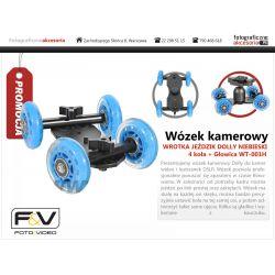 Wózek kamerowy WROTKA JEŹDZIK 4-koła + Głowica