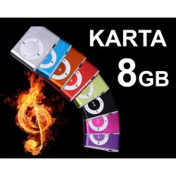 ODTWARZACZ s MP3 KLIPS SŁUCHAWKI +KARTA SD 8GB HIT