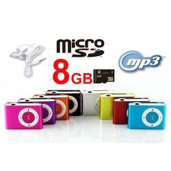 ODTWARZACZ s MP3 KLIPS SŁUCHAWKI +KARTA SD 8GB III