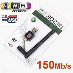 KARTA SIECIOWA WIFI WI-FI ADAPTER USB WLAN 5dB HIT
