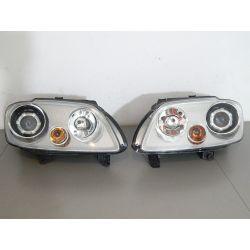 VW CADDY TOURAN KOMPLET LAMP SOCZEWKA Lampy przednie