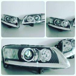 Audi A6 - przeróbka lamp na Bi-LED Lampy przednie