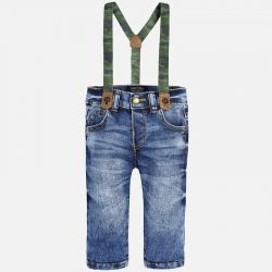 Spodnie jeansowe z szelkami Mayoral