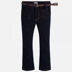Spodnie jeansowe z paskiem mayoral