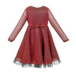 Sukienka czerwona dla dziewczynki Ela firmy AL-DA