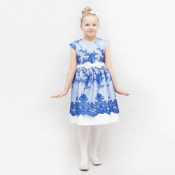 Sukienka Flora - niebieska
