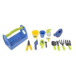Zestaw małego ogrodnika skrzynka z narzędziami