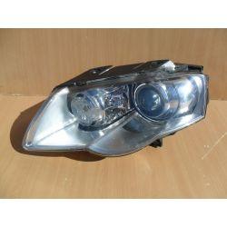 Reflektor bi xenon lewy skrętny Passat B6 2006-