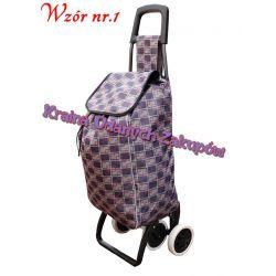 Wózek na zakupy,torba na kółkach do pchania 4 koła Bulwy, cebulki, kłącza