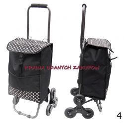 Wózek zakupowy torba na zakupy schodowy trójkołowy