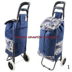 Wózek na Zakupy torba na kółkach SKŁADANY Galanteria i dodatki