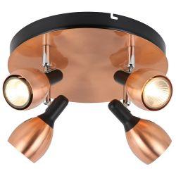 CROSS LAMPA SUFITOWA PLAFON  4xSPOT/LED MOSIĄDZ