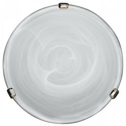 DUNA LAMPA SUFITOWA  PLAFON  CHROM, PATYNA 40 cm