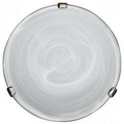 DUNA LAMPA SUFITOWA  PLAFON  CHROM, PATYNA 30 cm