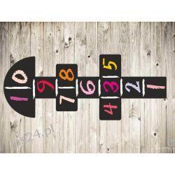 gry podłogowe, gra korytarzowa klasy, naklejka na podłogę różowa Pokój dziecięcy
