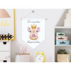 Proporczyk, obrazek, plakat do pokoju dziecka, księżniczka Pokój dziecięcy