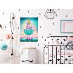 Proporczyk, obrazek, plakat do pokoju dziecka, turkusowa balerina Pokój dziecięcy