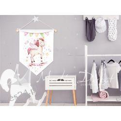 Proporczyk, obrazek, plakat do pokoju dziecka, bądź wolny Obrazki