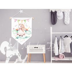 Proporczyk, obrazek, plakat do pokoju dziecka, miej wielkie marzenia Pokój dziecięcy