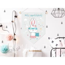 plakat do pokoju dziecka, pokój superbohaterki Obrazki