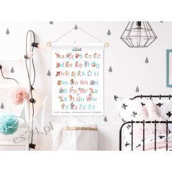 obrazek, plakat do pokoju dziecka, alfabet Dla Dzieci